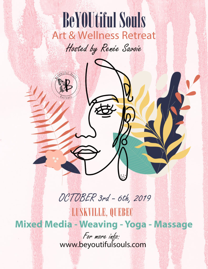 Poster for an Art and Wellness Retreat in Luskville, Quebec